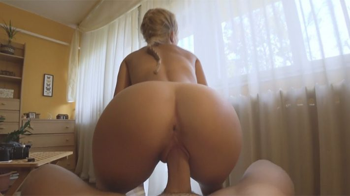 Blonde Girl Quits Reading to Fuck a Thick Cock